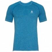 Odlo - BL Top Crew Neck S/S Seamless Element - T-shirt technique taille XXL, bleu