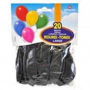 Pegaso - 20 palloncini tondi large - nero