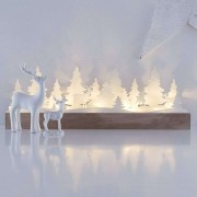 Delicate LED candle arch Johannesberg, wood