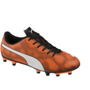Puma Rapido FG Black Shocking Orange Football Shoe