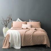Cuvertura pentru pat moderna roz pudrat Iroise