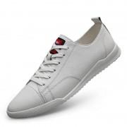 Mode effen kleur lichtgewicht sport casual schoenen voor mannen (kleur: wit maat: 41)