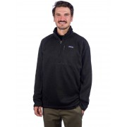 Patagonia Better Sweater 1/4 Zip Fleece Pullover : black - Size: Extra Large