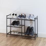 Suport de pantofi SANDRA 3 niveluri-negru