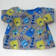 Quality Cuddle Time Hospital Gown With Peek-A-Boo Back - Teddy Bear Size