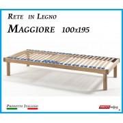 ErgoRelax Rete in Legno Maggiore con 26 Doghe di Faggio e Regolatori Rigidità 100x195