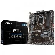 MSI Main Board Desktop B360 (S1151, DDR4, USB3.1, USB2.0, SATA III, M.2, DisplayPort, DVI-D - Requires Processor Graphics, 8-Channel(7.1) HD Audio with Audio Boost, Intel I219-V Gigabit LAN) ATX Retai B360-A_PRO