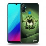 Átlátszó szilikon tok az alábbi mobiltelefonokra Realme C3 - Wolf life