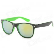 Gafas de sol Marco Anti-UV Proteccion UV400 Plastico Unisex PC Lens - Negro + Verde