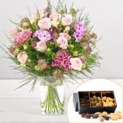 Interflora Bouquet Velours et ses amandes au chocolat
