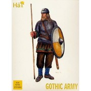 Hat Set 8133 Gothic Army Eastern Germanic Tribes 1/72 Scale Plastic Toy Soldiers, Works Well With Caesar, Airfix, Revell 1/72 Scale Sets