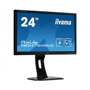 iiyama 24' with 2MP Webcam , 1920x1080, VA-panel, 13cm Height Adj. Stand, Pivot, 250 cd/m², Speakers, VGA, DVI, DisplayPort, 8ms, (23,6' VIS)