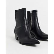 ALDO Batis stretch leather western sock boot-Black - female - Black - Size: 3