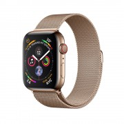 Умные Apple Watch Series 4 GPS + Cellular 44mm Stainless Steel Case with Milanese Loop Gold (Золотистый) MTX52