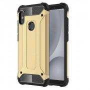 Hibrid Armor telefon tok hátlap tok Ütésálló Robusztus hátlap tok telefon tok Xiaomi redmi 5 NOTE (dual kamera) / redmi NOTE 5 Pro arany