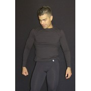 Arroyman Cotton Lycra Long Sleeved T Shirt Black