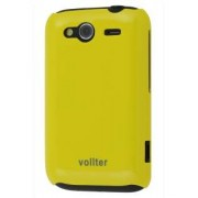 Vollter Ultra Slim Glossy Case for HTC Wildfire S - HTC Hard Case (Canary Yellow)
