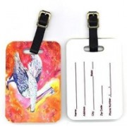 Caroline's Treasures 8360BT Pair of Pelican Luggage Tag(Multicolor)