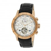 Heritor Automatic Hamilton Semi-Skeleton Leather-Band Watch - Rose Gold/Silver HERHR4105