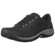 KEEN Women's Presidio II-W Hiking Shoe, Black/Steel Grey, 7 M US