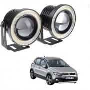 Auto Addict 3.5 High Power Led Projector Fog Light Cob with White Angel Eye Ring 15W Set of 2 For Volkswagen Polo Cross