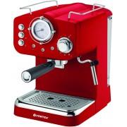 Espressor manual Vortex VO4016, Rezervor apă 1.25 L, 1100 W, 15 bari, Filtru inox, Funcție spumare lapte, Roșu