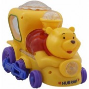 musical and rotating Pooh Train with flashing light ( MULTICOLOUR)