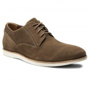 Обувки CLARKS - Franson Plain 261148897 Brown Nubuck