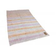 Rozenkelim vintage vloerkleed gemaakt van katoen 268cm x 153cm