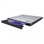 LG External Slim Portable DVD Writer (Silver) - GP57ES40