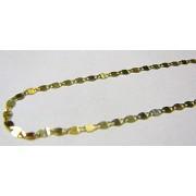 Dámský zlatý řetízek s ploškami ze žlutého zlata 50cm 585/1,46gr H069
