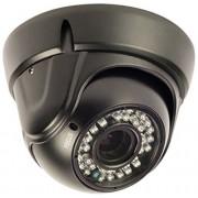 KÖNIG Koning Dome-bewakingscamera met zoomlens, zwart, SAS-cam3200