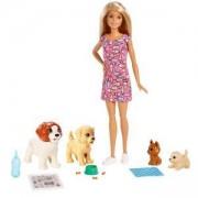 Кукла Barbie - Комплект Барби с кученца, 1711100