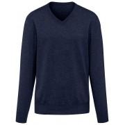 Peter Hahn V-Pullover aus 100% Premium-Kaschmir Peter Hahn Cashmere blau