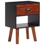 vidaXL Дървено нощно шкафче, 40x30x58 cм