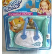 Zhu Zhu Pets Go Go Pets ****Pet Carrier and Blanket TEAL ****WITH ORIGINAL NAME Go Go PETS Embroidered on it**** (before name change to THIS IS A RARE COLLECTIBLE Go Go PETS ITEM. No Longer in Production as Go Go PETS. by
