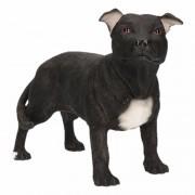 Geen Beeldje Staff Bull Terrier zwart 15 cm