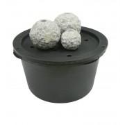 ubbink Gartenbrunnen Kozani 3er Set Granit Kugeln