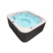 Whirlpool Outdoor Whirlpool Hot Tub Spa MADE IN GERMANY weiss + anthrazit mit 39 Massag...