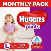Huggies Wonder Pants Diaper - L (120 Pieces)