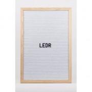 LEDR Kinderkamer deco letterbord met letters wit 30 x 45 cm