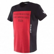 DAINESE Camiseta Dainese Racer-Passion Black / Red