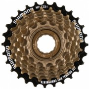 Pinion Filetat Shimano Tourney Mf-Tz500 - 7 7Vit Hg 14-28T Maro-Negru