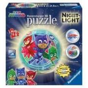 Puzzle 3D luminos Eroi in Pijamale M2 72 Piese