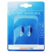 Powertec Xenon Blue 12V 5W W5W крушки к-т