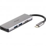 D-Link DUB-M530 USB 3.0 hub srebrna