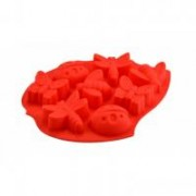 Sütőforma szilikon, lepke-katica piros (12383)