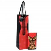 Punga cadou pentru sticla cu felicitare model dama DP Collection Classic