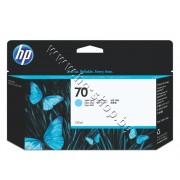 Мастило HP 70, Light Cyan (130 ml), p/n C9390A - Оригинален HP консуматив - касета с мастило