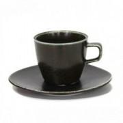 Ceasca cu farfurioara portelan BLACK Antique 220 ml 0156136